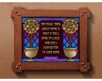 Arts and Crafts Framed Print. Home subject. Great for Arts and Crafts Mission style and Craftsman homes.