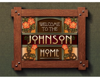 Customizable print Welcome to the Home of YOUR NAME