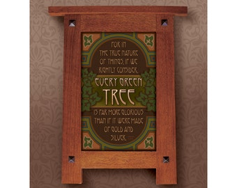 Arts and Crafts Framed Print. Tree subject. Great for Arts and Crafts, Mission style and Craftsman homes.
