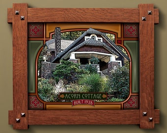 Your Arts & Crafts Home in a Custom Framed Print
