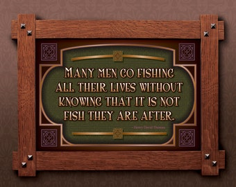 Arts and Crafts Framed Print. Fishing subject. Great for Arts and Crafts, Mission style and Craftsman homes.