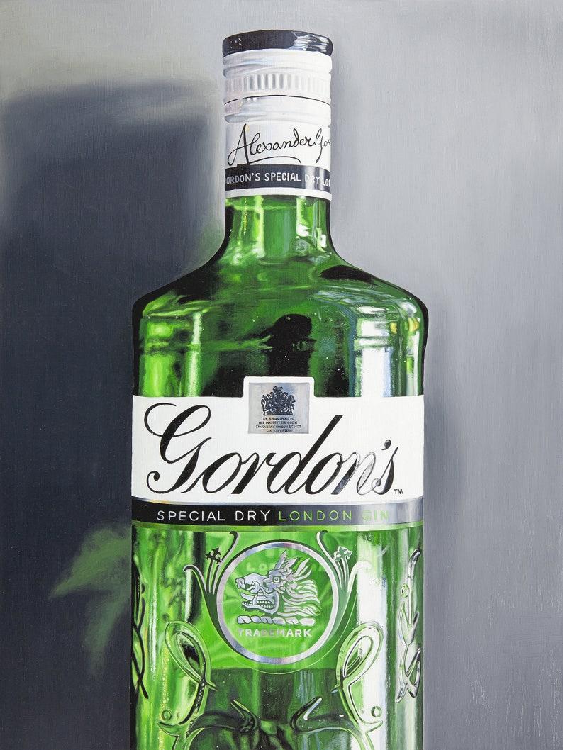 Gordons Gin  Original Oil Painting image 0
