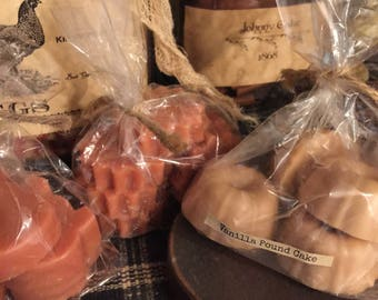 Hand Poured Highly Scented American Made Primitive Style Tart Wax Candle Melts