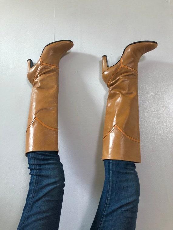 Sz 7 1/2N 60's Tan Go-Go Boots