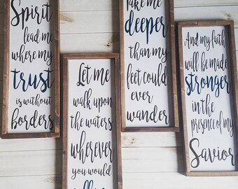 Spirit Lead Me Where My Trust is Without Borders, Spirit Lead Me Sign, Hillsong United, Oceans Lyrics, Sprit Set