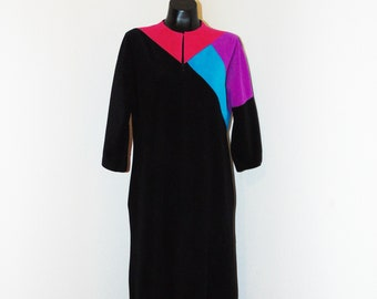 fea9dea84f Vintage 1970s Colorful House Robe by Vanity Fair in sz Small