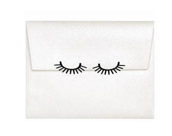 Eyelash Stickers 48 Spa Party Envelope Seals Gold Invitation Seal Spa Planner Sticker Spa Party Decal Bridal Shower Invitation Bacheloeette