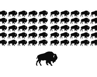 Buffalo Decals Choose your size and color! Buffalo Stickers Buffalo Theme Bison Decal Bison Sticker Buffalo Baby Shower American West
