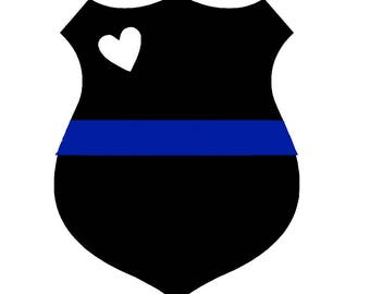 Thin Blue Line Decal Choose your Size Police Officer Gift Police Wife Thin Blue Line Sticker Police Badge Police Academy Graduation Gift