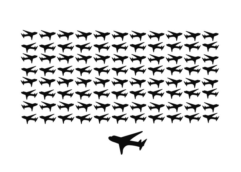 Airplane Decals 88 Airplace Stickers Mini Decals Travel Decals Travel  Planner Stickers Plane Decals Airplane Birthday