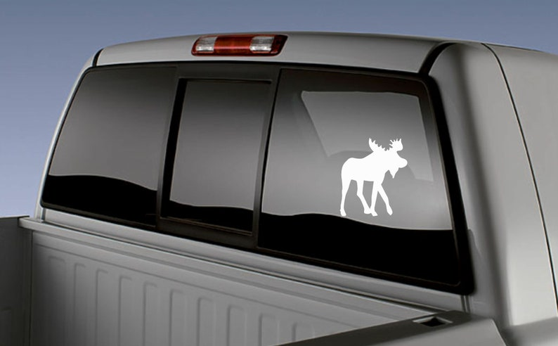 Truck Stickers For Back Window >> Moose Decal Moose Sticker Hunter Gift Hunting Decal Truck Window Decal Truck Back Window Decal Truck Decal Moose Gift Moose Decor Moose Head