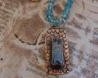 Aquamarine and Apatite Necklace