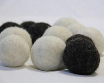 100 % wool dryer balls - set of 4 -natural un-dyed