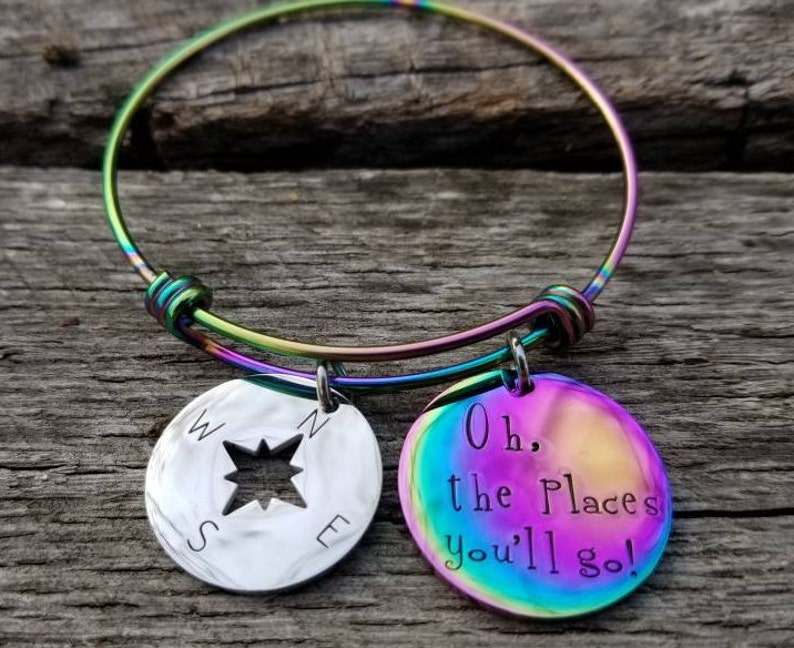 Graduation Gift Bracelet Rainbow Bangle