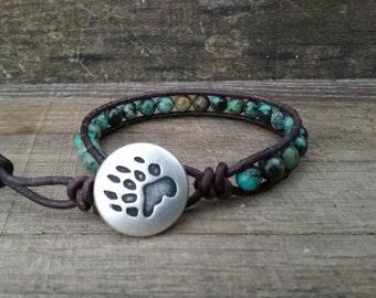 Native American Jewelry - Mens Jewelry - Mens Beaded Jewelry - Leather Wrap Bracelets for Women - Beaded Bracelet - Turquoise Bracelet