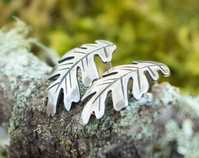 Oak Stud Earrings | Sterling Silver