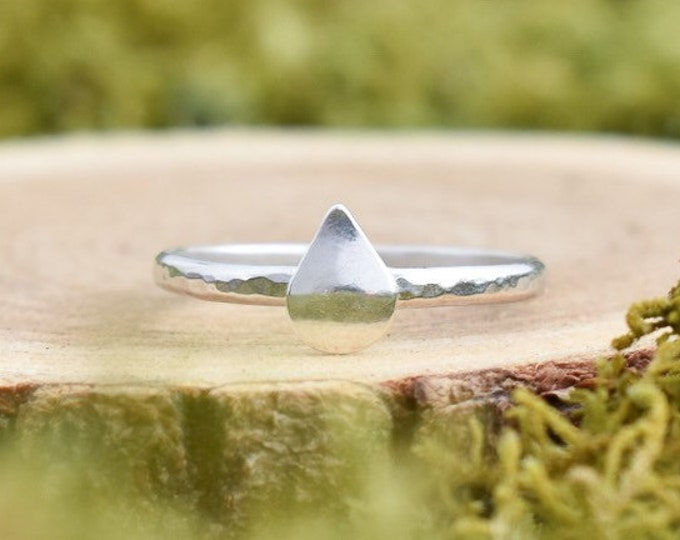 Raindrop Stacking Ring   Made to Order   Sterling Silver