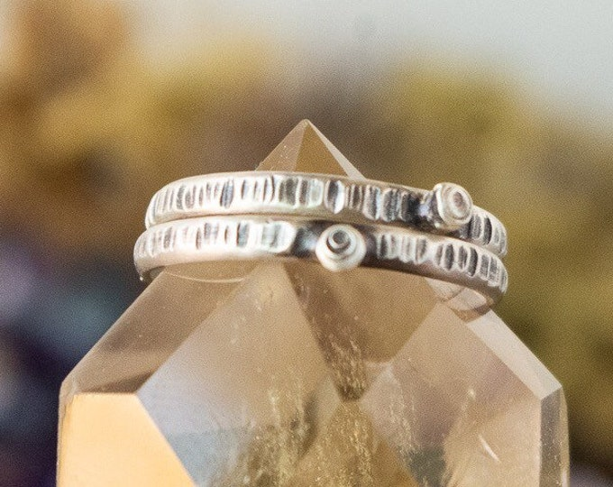 Tree Trunk Stacking Ring | Made to Order | Sterling Silver