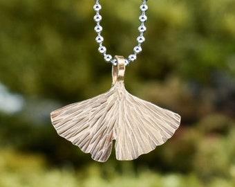 Gingko Pendant | Brass