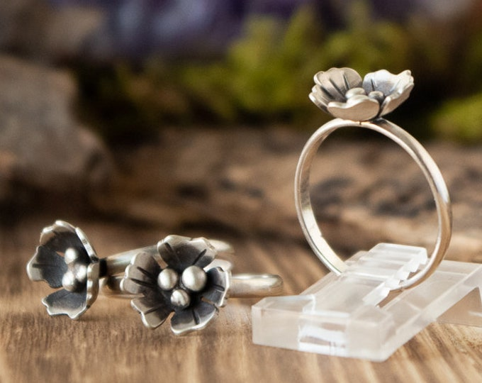 Flower Stacking Ring | Sterling Silver