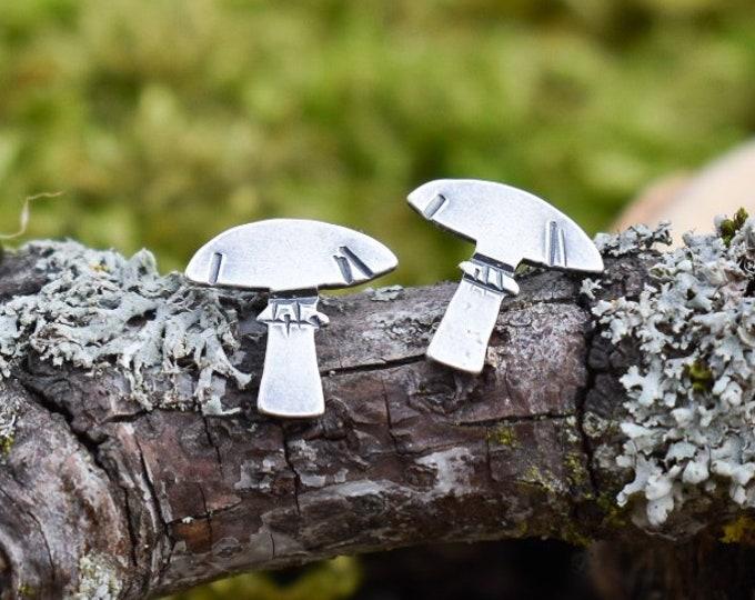 Parasol  Mushroom Stud Earrings | Sterling Silver