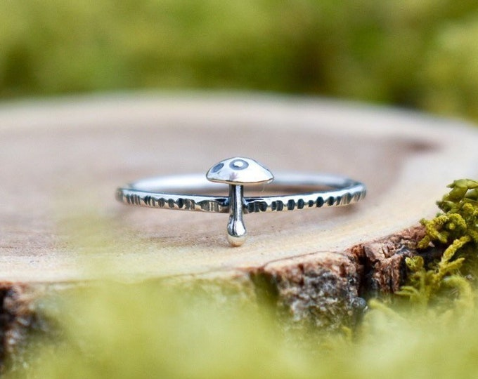Featured listing image: Toadstool Stacking Ring | Made to Order | Sterling Silver