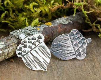 Acorn Stud Earrings | Sterling Silver