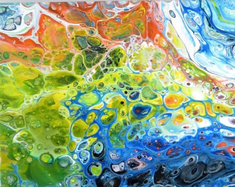 Acrylic Pour Painting/ Fluid Painting/ Abstract Art