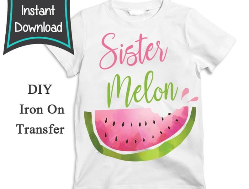 One Resolution Watermelon Print Tee Black