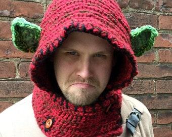 Orc Hood / Dungeons & Dragons / Critical Role / Pathfinder / geek / winter wear / men / women / crochet / love / gamer