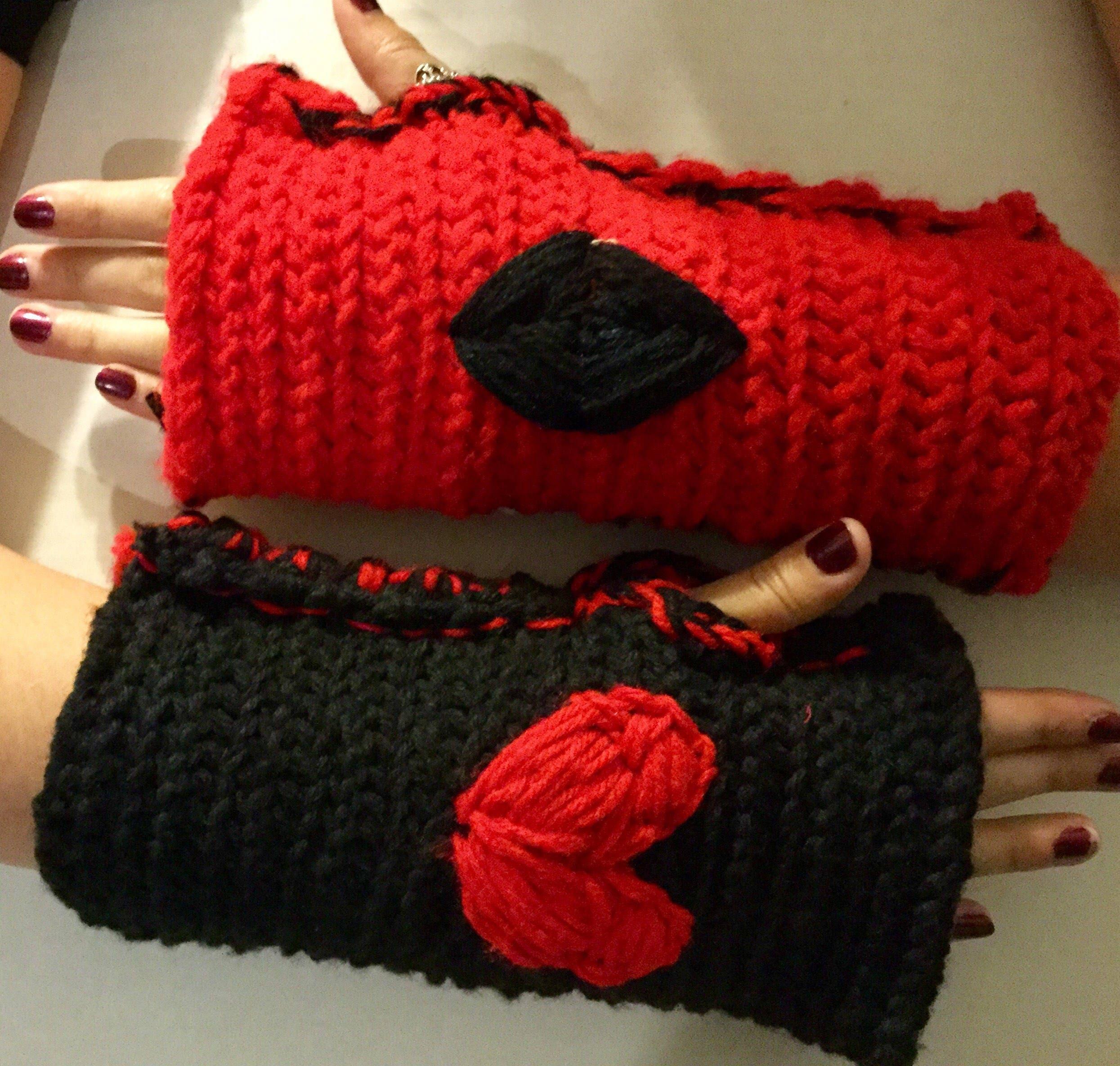 c40c8f568e0 Harley Quinn Specialty Comic Book Fingerless Gloves DC New