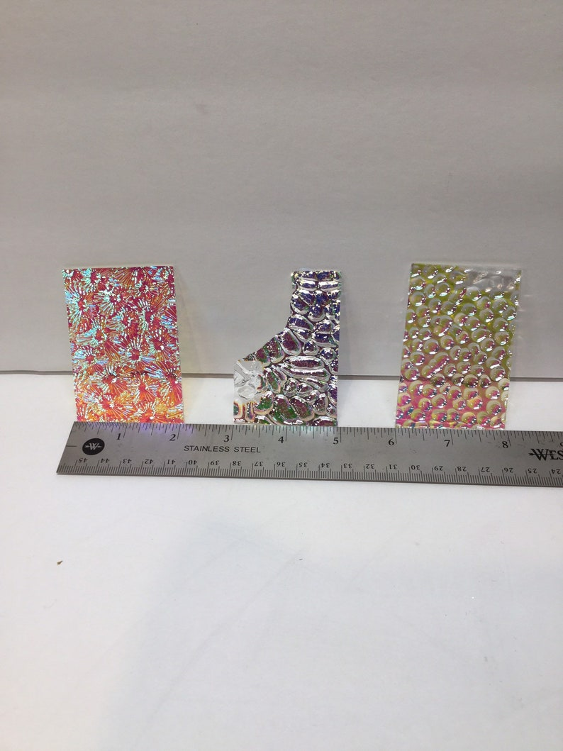 Fusing Glass System 90 Dichroic Scrap Glass Group #4 Jewelry Supplies 4 OZ Clear Thin You Get Exact Glass In The Photo