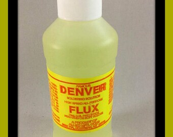 8 Oz Bottle Denver Soldering Flux, for Soldering Jewelry, Collages, Soldered Art and Stained Glass, Stained Glass Flux, Liquid Flux,