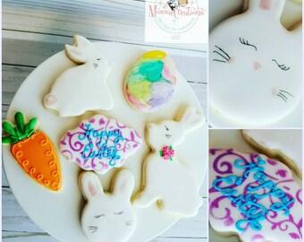 1 Dozen Easter Bunny Cookies