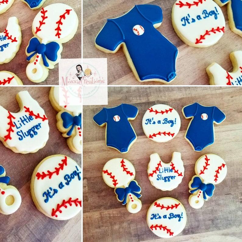 Baseball Theme Baby Shower Cookies
