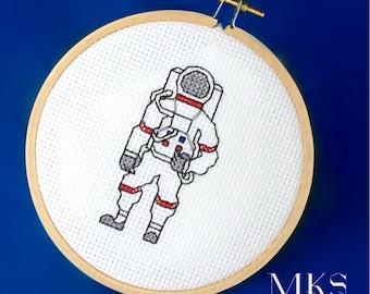 Astronaut Cross Stitch Pattern - Instant Download