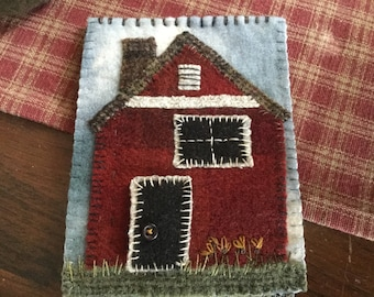 MY RED HOUSE pattern by SusanGonzalesDesigns.com