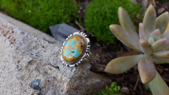 Turquoise and Silver Ring Size 6