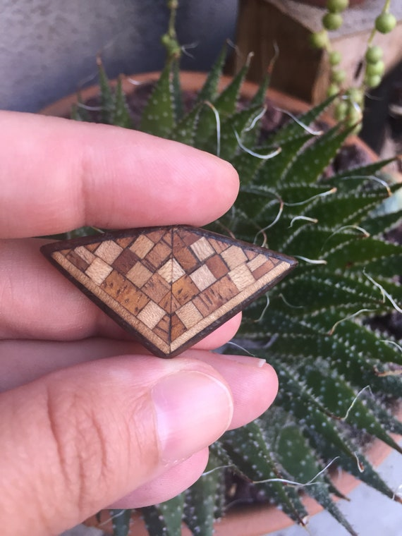 Geometric Wooden Sculpture- Jewelry Supplies