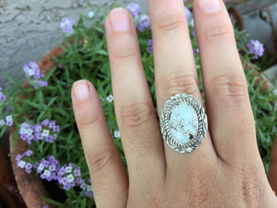 Dry Creek Turquoise and Silver Ring Size 7.5