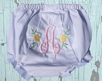 Diaper Cover Bloomer with side florals design