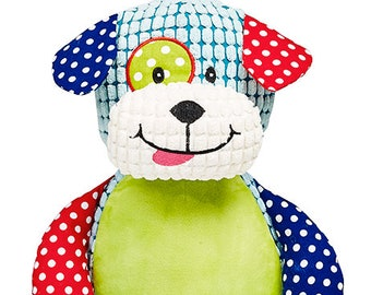 CUBBY Personalized Harlequin Puppy Custom Cubbies ~ Monogrammed Stuffed Animals