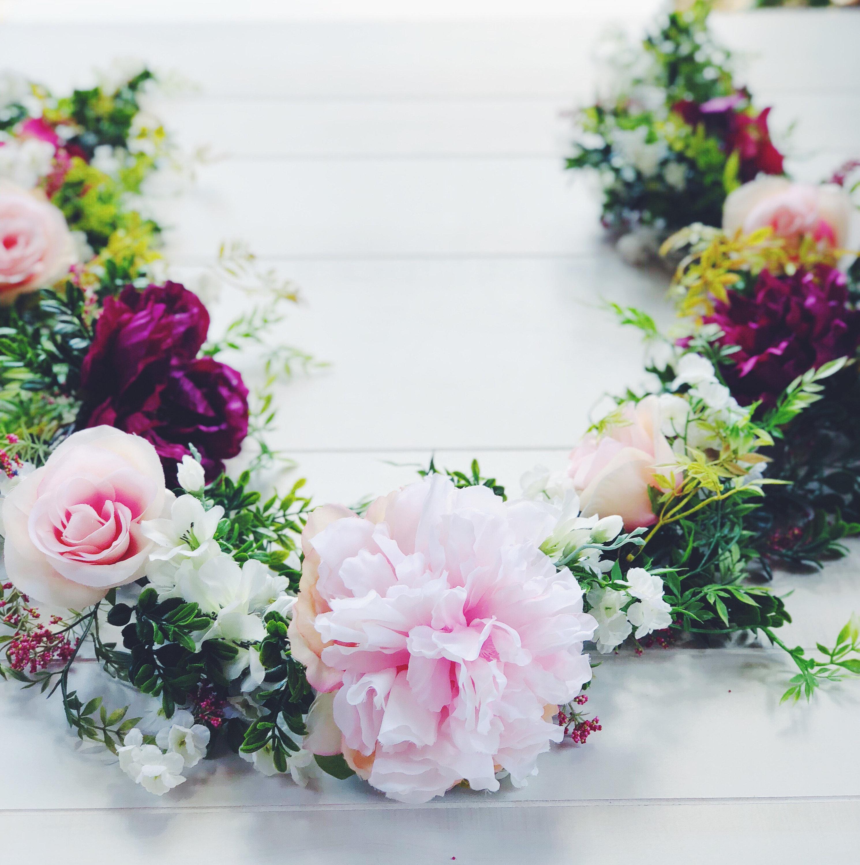 Flower Garland: Blush Merlot Flower Garland Wedding Garland Wedding Flower