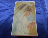 Girls Holy Communion music box vintage