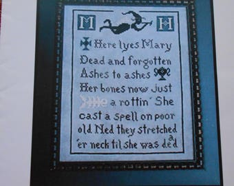 Mary's Tombstone by Caryn cross stitch