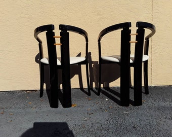 Pair of Tobia Scarpa style chairs