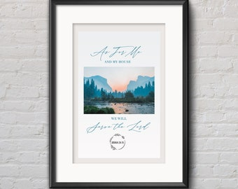 As For Me and My House We Will Serve the Lord (Joshua 24:15) Printable Wall Art
