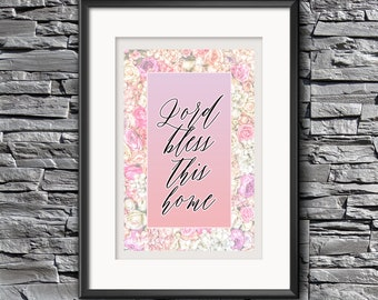 Lord Bless This Home Printable Wall Art