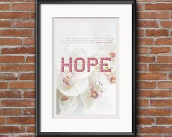 Hope Bible Verse (Jeremiah 29:11) Printable Wall Art