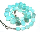 Amazing 70 off Beautiful 178.05 Carat natural Blue Peru Opal 9-12 to 14x16 mm Mixed Shape Beads 1 Strand necklace 18 Inch long